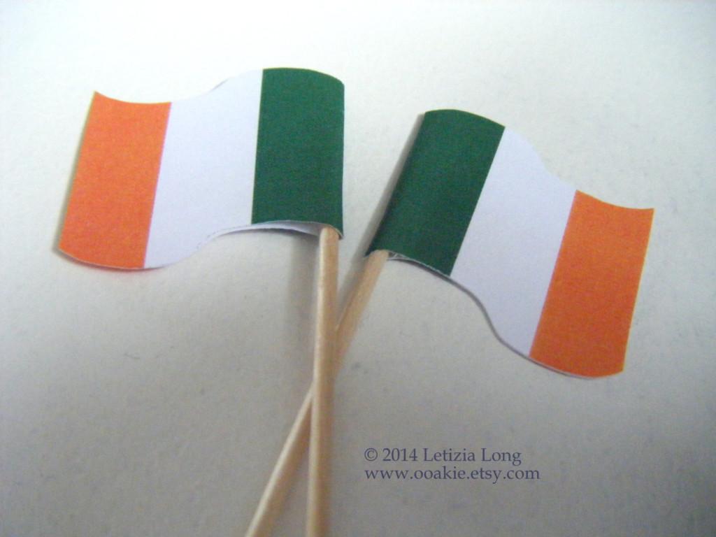 small Irish flags