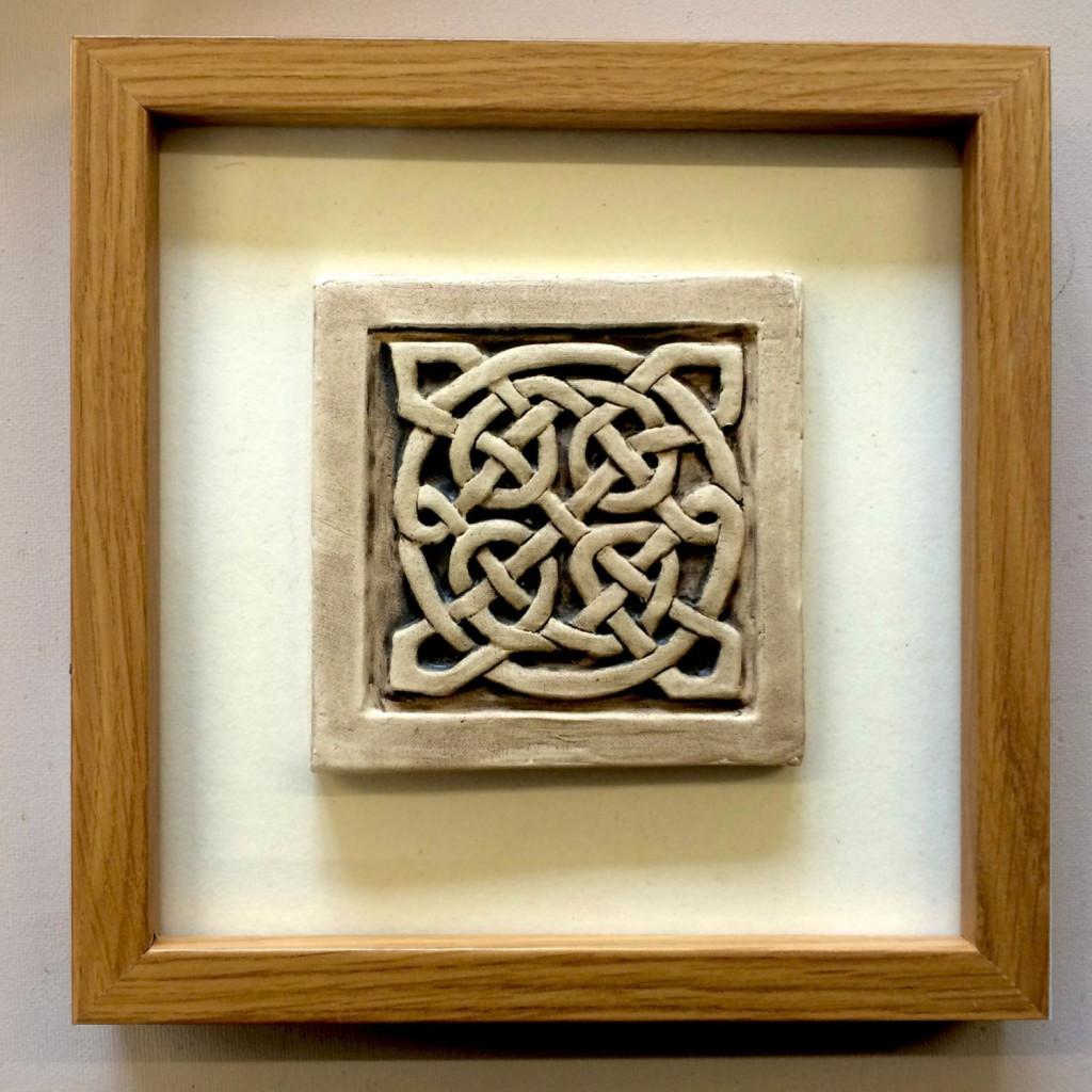 a ceramic celtic knot