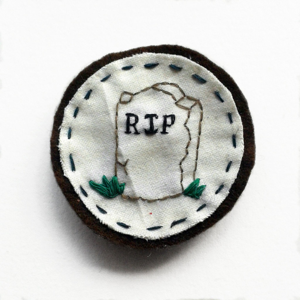 embroidered tombstone
